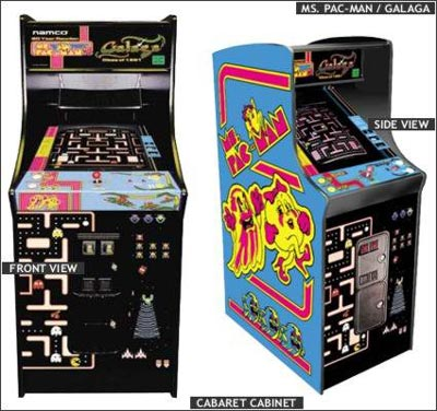 Ms. Pac-Man / Galaga coin operated video games